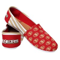 NFL San Francisco 49ers 2016 Womens Canvas Stripe Shoes Football