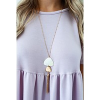 Easily Adored Necklace: Gold/Ivory