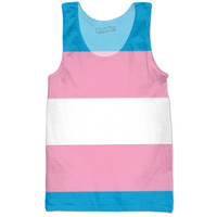 Transgender Flag Tank Top