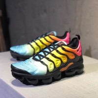 """Nike Air Vapormax Plus"" Unisex Casual Personality Multicolor Air Cushion Running Shoes Couple Sneakers"