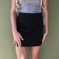 Free People Leather Modern Femme Skirt - Black