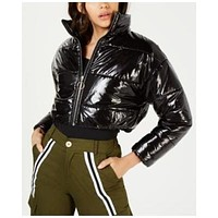 Waisted Collection Cropped Puffer Jacket Size Black Small $190