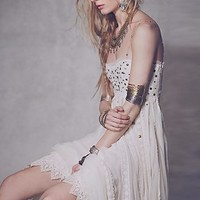 Free People Womens Studded Lace Party Dress