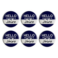 Jairo Hello My Name Is Plastic Resin Button Set of 6
