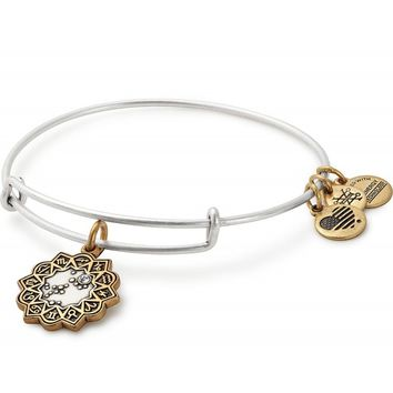 Aquarius Two Tone Charm Bangle