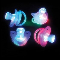 RaveReady LED Blinking Pacifier Binky Necklace : Tons of LED Rave Toys