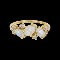 Rainbow Moonstone & Diamond Midsummer Night's Dream Ring