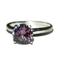 Alexandrite Ring, Color Changing Stone, 8mm Round, Solitaire, Size 6
