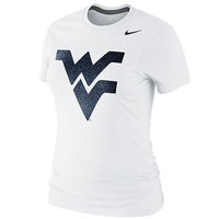 Nike West Virginia Mountaineers Ladies Foundation Slim Fit T-Shirt -  White