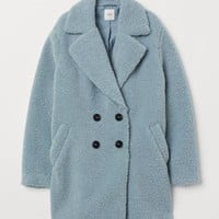 Pile Coat - Light blue - Ladies | H&M US