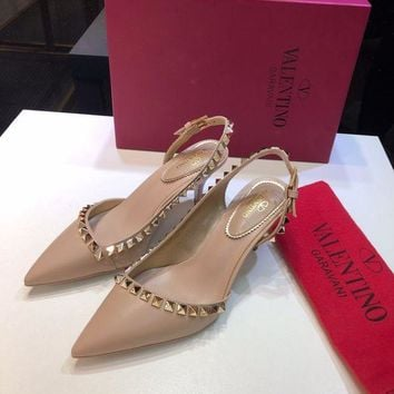 DCCK Valentino Women Casual Shoes Boots fashionable casual leather Women Heels Sandal Shoes