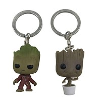 Baby groot toy keychain