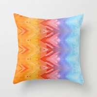 SXYellow Throw Pillow by Deniz Erçelebi