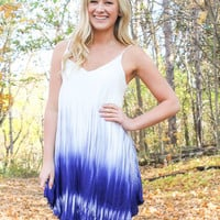 Dipped in Blue Dress