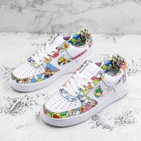 Custom Murakami Takashi Flower x Doraemon x Nike Wmns Air Force 1 Sport Shoes - Best Online Sale
