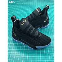 Nike Lebron 15 Black Blue Sport Running Shoes