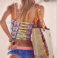 HOT FLOWER INTERVAL TWO PIECE SWIMWEAR