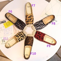Fendi FF Letter Fisherman Shoes