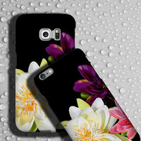 Lotus flower iphone 6 case, iPhone 6plus, Floral Samsung Galaxy tough case, Flower iPhone 5C cover, flower phone case Samsung Galaxy S6 Edge