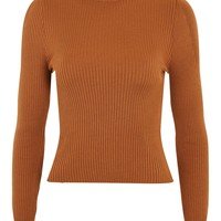 Puff Sleeve Roll Jumper | Topshop