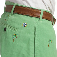 Caribbean Corduroy Mariner Pants Palm Frond With Christmas Palm Tree