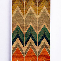 Retro Abstract Chevron Pattern On Wood for Iphone 5C Hard Cover Plastic