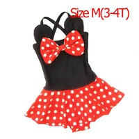Mioigee 2018 New Kids Swimwear for Girls Baby Cartoon Dots Summer Baby Girls Swimsuit One Piece Children Fashion Beachwear Suits