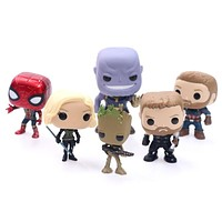 FUNKO POP Marvel Avengers 3-  Infinite War Spider-Man Groot Iron Man- Raytheon Action Figure Collectible Model Toy For Gift