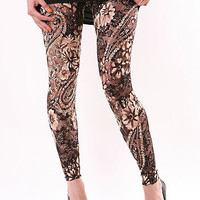 Ginger Lace Leggings - Lace Leggings at Pinkice.com