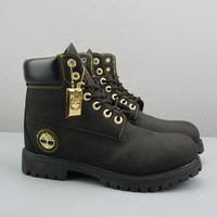 Timberland Leather Lace-Up Icon Premium Boot High Black - Best Deal Online