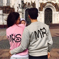 Fashion Floral Printed Women Loose Solid Alphabets Words Sweatshirt Jumper Shirt Top Blouse _ 10207