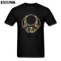 Super Mario party nes switch Group T Shirts Toad Video Game  Cotton T Shirts Man O Neck Short Sleeved T-Shirts Normal Men's All Design Shirts AT_80_8