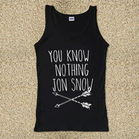 Cool You Know Nothing John Snow for Tank Top Mens and Tank Top Girls