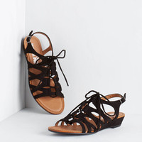 ModCloth Boho Now We're Cookin'! Wedge in Black