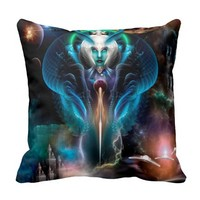 Thera Queen Of The Galaxy Throw Pillow