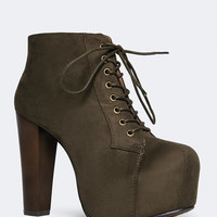 LACE UP CHUNKY BOOTIE