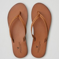 AEO PERFORATED LEATHER FLIP FLOP