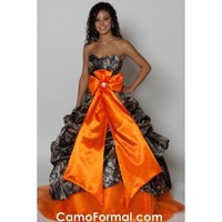 Camo Pickup Ball Gown Camouflage Prom Wedding Homecoming Formals