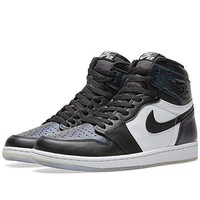 Jordan Men's Air 1 Retro High OG AS, BLACK/BLACK-METALLIC SILVER-WHITE