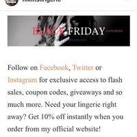 Black Friday Sale, Cyber Monday Sale, Thanksgiving Sale, Small Business Saturday Sale, Cyber Weekend Sale, Clothing Sale, Lingerie Sale