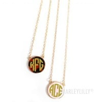 Monogrammed Long Preppy Necklace   Marley Lilly