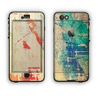 The Grunge Multicolor Textured Surface Apple iPhone 6 LifeProof Nuud Case Skin Set