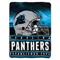 Carolina Panthers NFL Silk Touch Throw (Stacked Series) (60inx80in)
