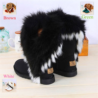 New Women Winter Snow Boots Ankle Boots Warm fur inside snow boots for women women's winter shoes