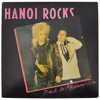Vintage 80s Hanoi Rocks Back to Mystery City Glam Punk Album Record Vinyl LP