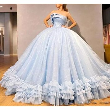 Lace Up Back Girls Pageant Gowns