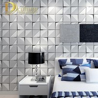 Fashion Modern 3D Wallpaper For Walls Bedroom Living room Sofa Background Decor Luxury Homes Flocked Non woven Wall paper Rolls