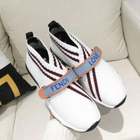 Fendi White Sock Sneaker