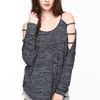 Speckled Lattice Sleeves Tee - LoveCulture