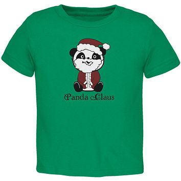 Christmas Panda Santa Claus Cute Toddler T Shirt